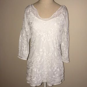 WHBM Embroidered Tunic